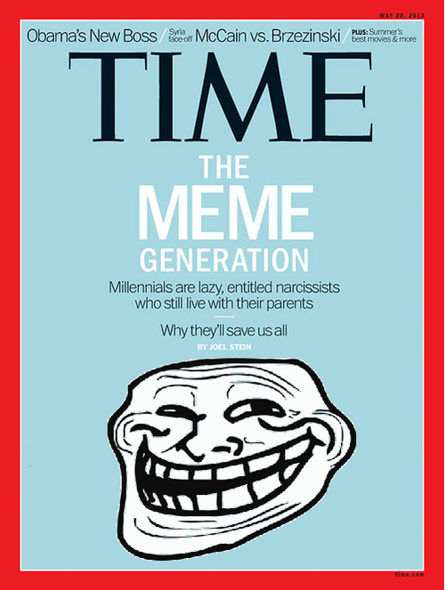TIME magazine cover millennials parody Memes troll face funny - 7446684672