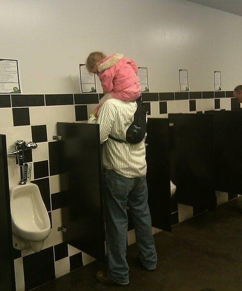 bathroom sneaking a peek toilets g rated Parenting FAILS - 7446784512
