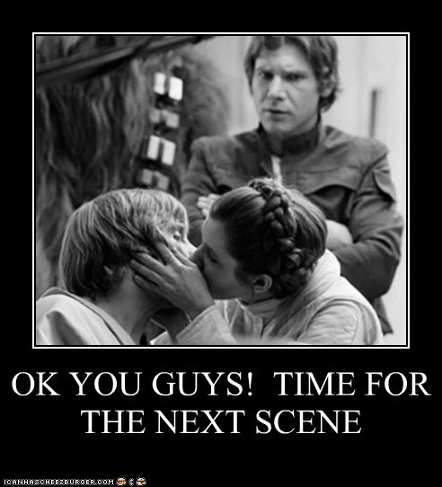 star wars very demotivational kissing funny - 7446963456