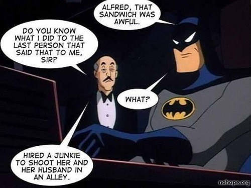 mean alfred batman funny - 7447048192