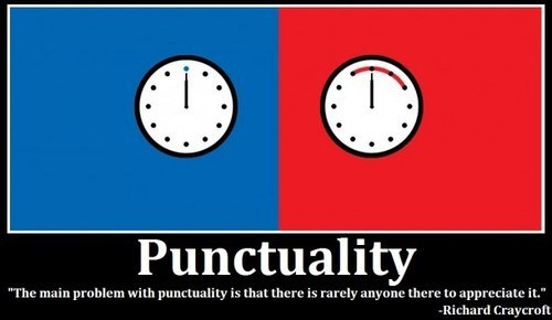 punctuality on time late quote funny - 7447084032