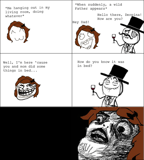 troll dad in bed funny Father - 7447241728