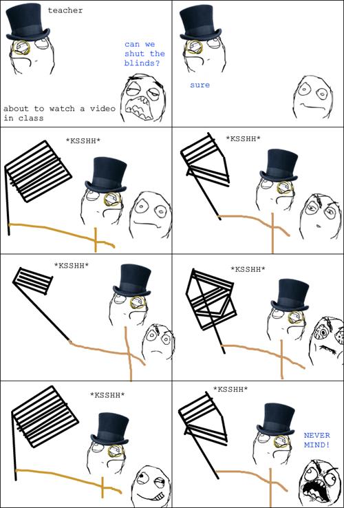 venetian blinds,sir,funny