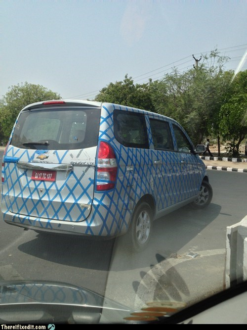 pattern paint job funny tape