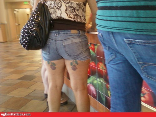 tattoos flowers legs funny