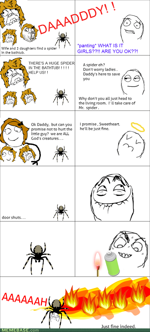 spiders,daddy,parenting,funny,Father