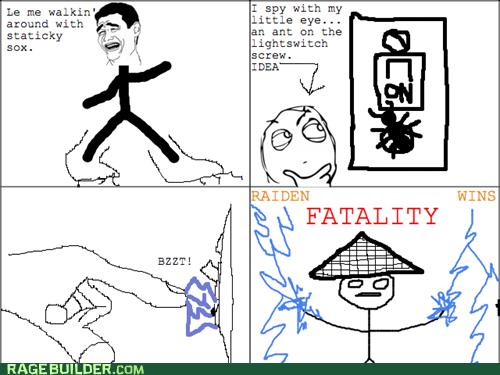 raiden Mortal Kombat me gusta static electricity video games - 7449626880