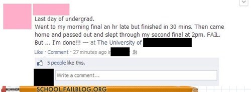 class facebook undergrad final funny - 7449841408