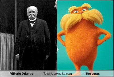 the lorax,totally looks like,vittorio orlando,mustaches,funny