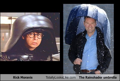 Rick Moranis,totally looks like,the rainshader umbrella,funny