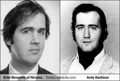 eyebrows,Krist Novoselic,andy kaufman,totally looks like,funny