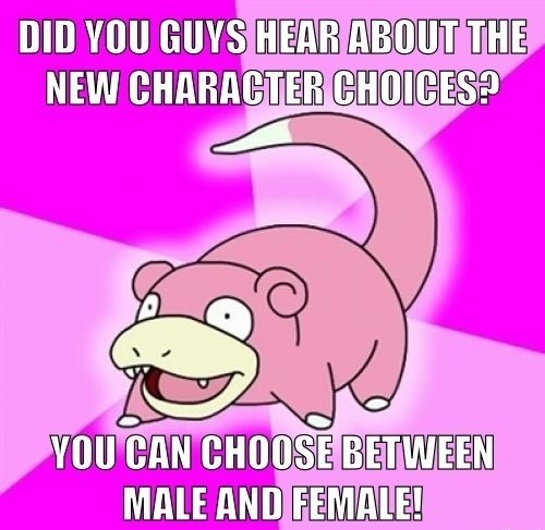 Pokémon,character customization,Memes,slowpoke,funny