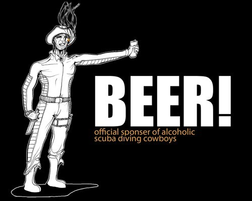 beer Cowboys funny scuba diving - 7453350912