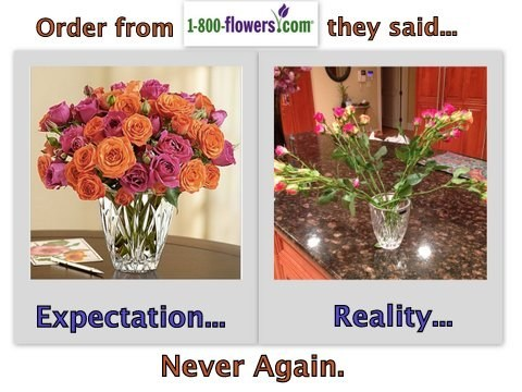expectation vs. reality,flowers