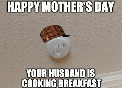 breakfast,smoke alarm,mothers day