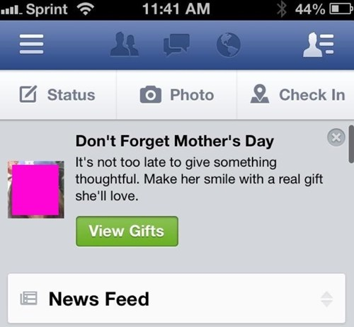 facebook gifts,mothers day,real gifts,funny