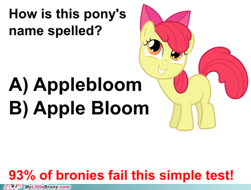 has science gone too far? applebloom bloodythumbsup apple bloom spelling funny - 7453749504