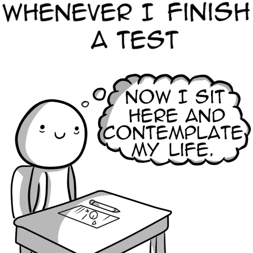 life contemplate finished test funny - 7453881344