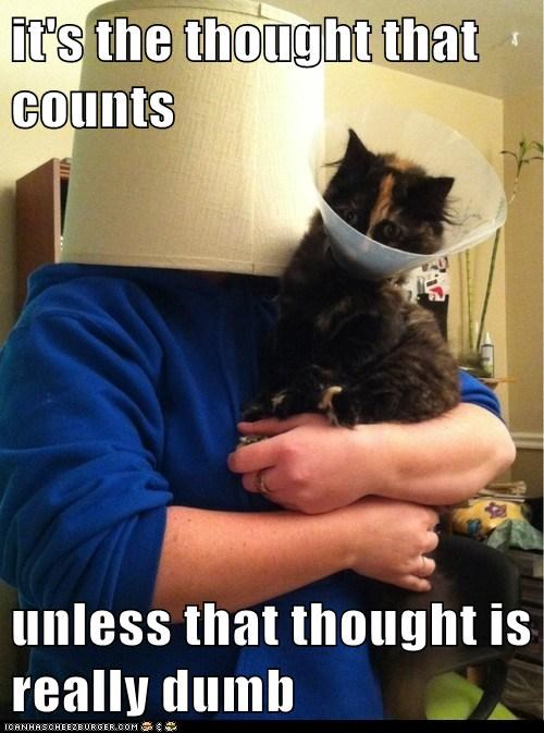 mocking thought elizabethan collar funny - 7454126592