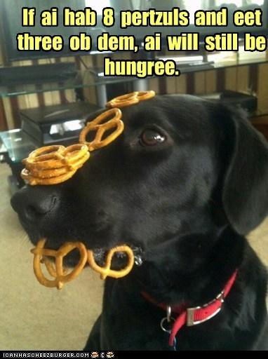 If ai hab 8 pertzuls and eet three ob dem, ai will still be hungree.