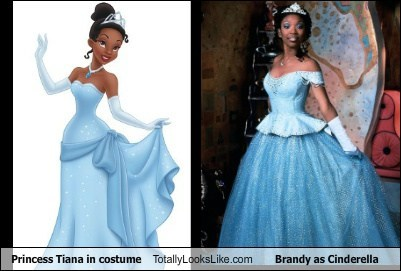 brandy,princess tiana,cinderella,totally looks like,funny