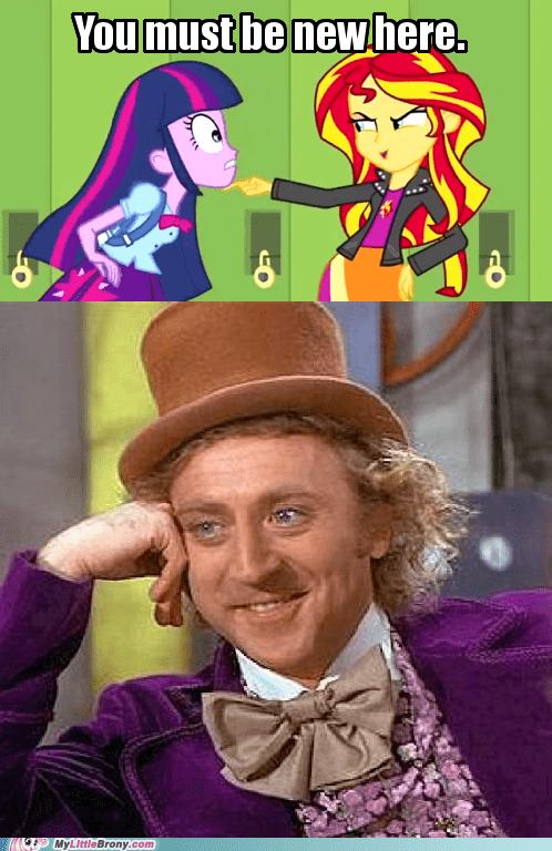 equestria girls condescending wonka Memes sunset shimmer funny - 7454841088