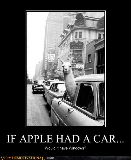 IF APPLE HAD A CAR... Would it have Windows?