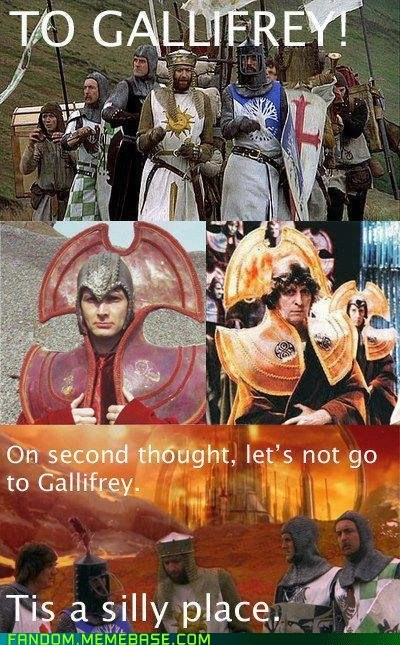 gallifrey monty python and the holy grail doctor who funny - 7455227136