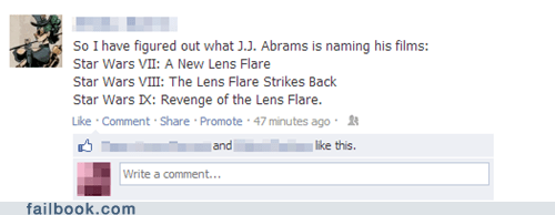 disney,JJ Abrams,lens flare,star wars,star trek into darkness,funny