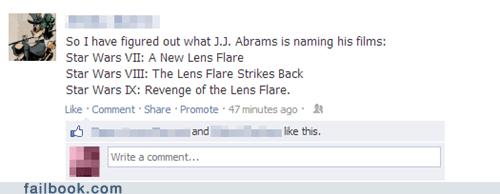 disney JJ Abrams lens flare star wars star trek into darkness funny - 7455435776