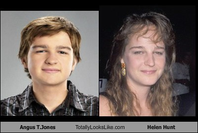 Angus T.Jones Totally Looks Like Helen Hunt