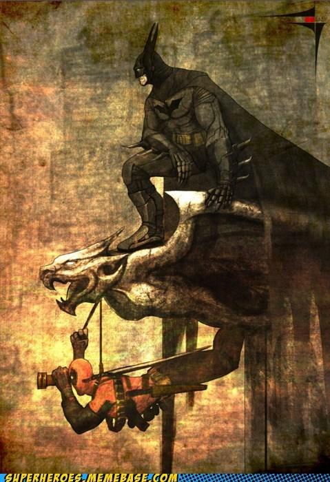 art deadpool batman funny - 7455536128