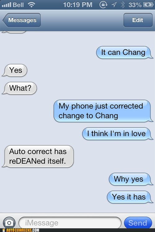 I'm all for Chang