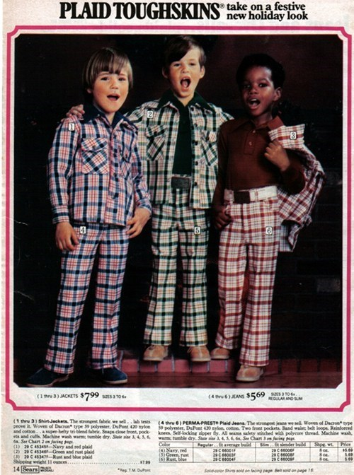 retro plaid funny