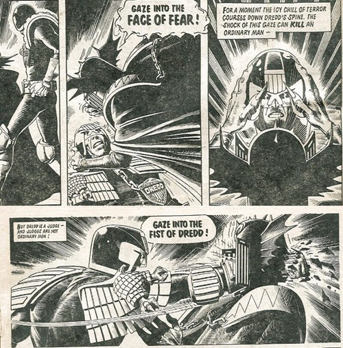 off the page angry fist judge dredd funny - 7455929600