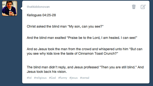 jesus cinnamon toast crunch tumblr ctc cereal - 7455993344