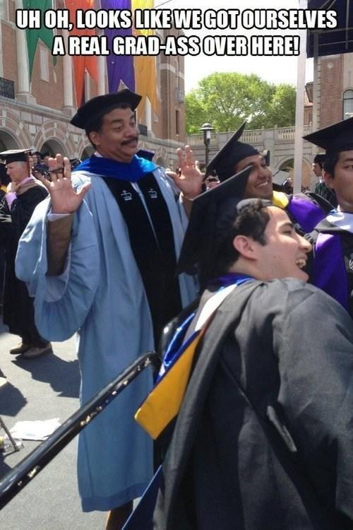 graduation,IRL,Neil deGrasse Tyson,funny