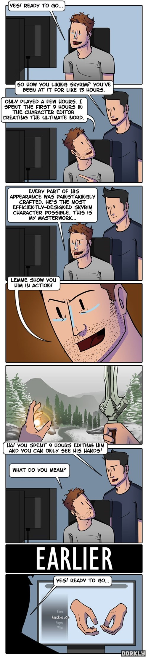 dorkly character creation video games Skyrim funny - 7456161024