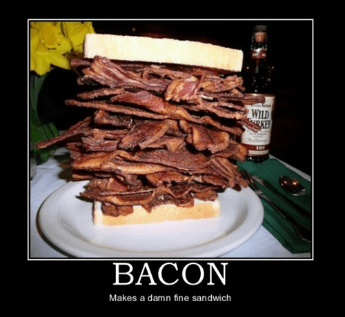 whiskey delicious bacon sandwhich - 7456230912