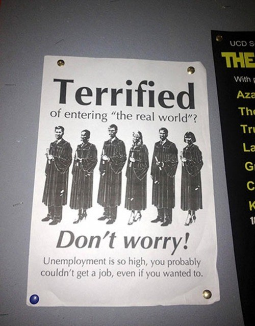 graduation job applications the real world unemployment college monday thru friday g rated funny - 7456481024
