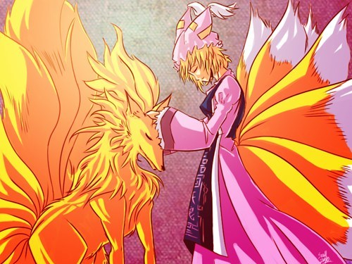 crossover Pokémon ninetails touho Fan Art Ran Yakumo - 7456532992