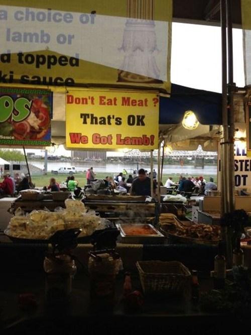 sign lamb food vegetarian - 7456824064