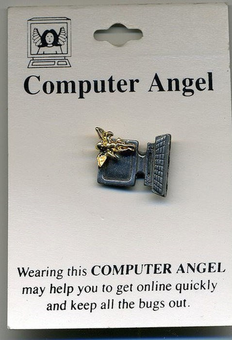 angel it pin computer funny