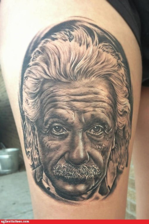 tattoos einstein funny - 7457162240
