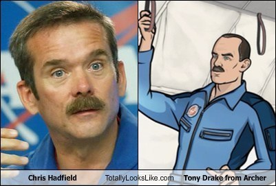 chris hadfield totally looks like archer funny - 7457558016