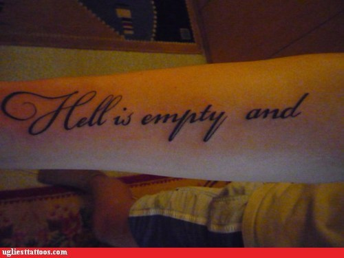 wtf hell tattoos funny - 7458108160