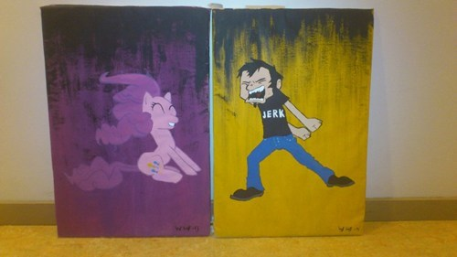 my little pony Fan Art pinkie pie dan vs