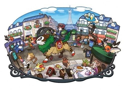Pokémon art downtown funny lumiose - 7459040256