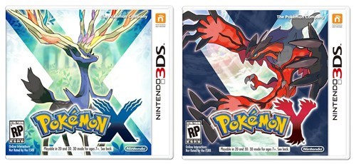 The Box Art for Pokemon X and Pokemon Y
