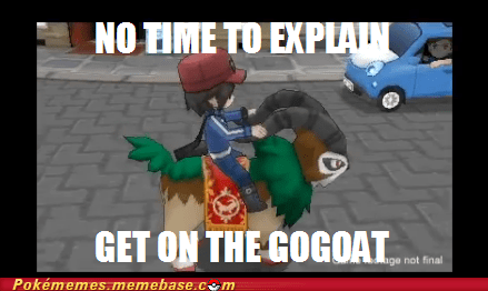 Pokémon,gogoat,kalos,funny